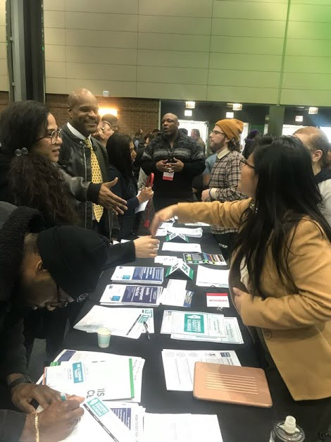 Coalition members tabling at Chicago's Cannabis Resource Fair. February, 2020.